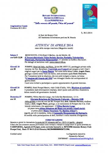 Copertina Pompei Sud APRILE 2014