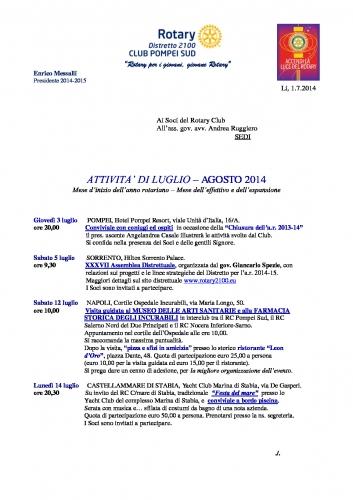 Copertina Pompei Sud LUG-AGO 2014