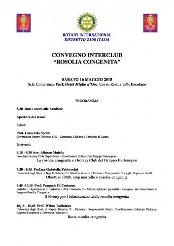 Copertina Programma Convegno ROSOLIA