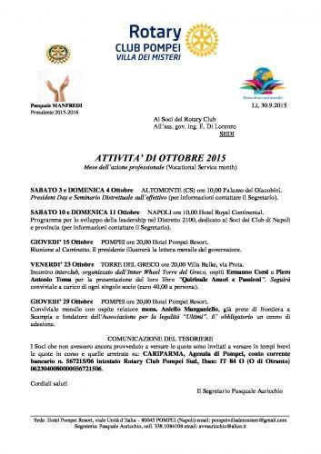 Copertina Programma ottobre 2015