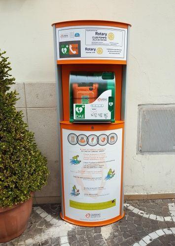 defibrillatore in via roma a pompei