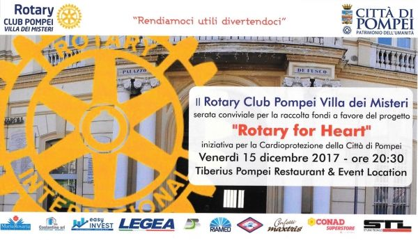 Invito Rotary for Heart 15 dicembre 2017