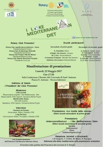 locandina prog. dieta mediterranea 22.5.17