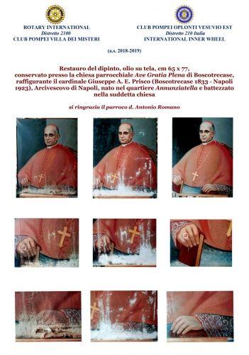 Poster restauro tela Cardinal Prisco