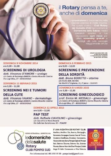 screening ginecologico gratuito Boscoreale